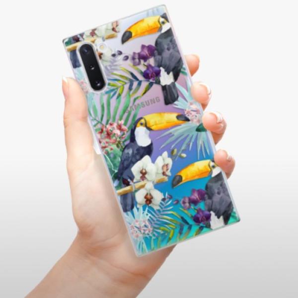 Odolné silikonové pouzdro iSaprio - Tucan Pattern 01 - Samsung Galaxy Note 10