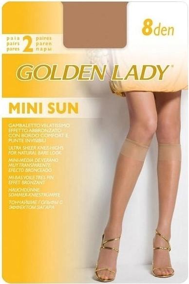 Podkolenky Mini Sun 8 den 2P - Golden Lady - Černá/uni