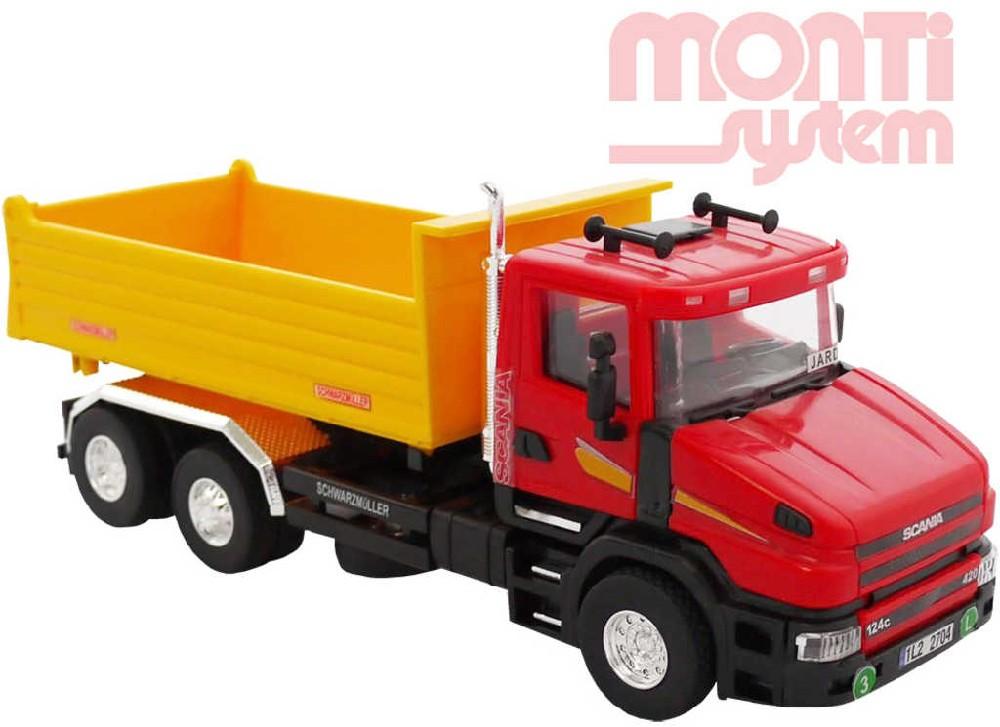 SEVA Monti System PROFI 62 Auto scania sklápěč 1:48 stavebnice MS62 0110-62