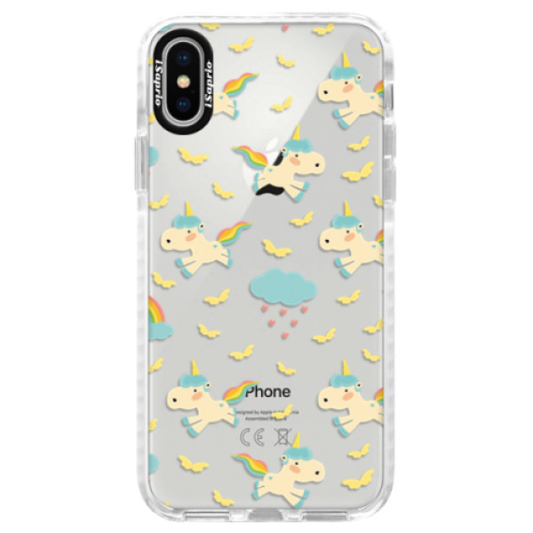 Silikonové pouzdro Bumper iSaprio - Unicorn pattern 01 - iPhone X
