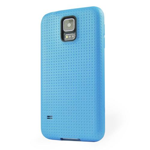Pružný kryt / pouzdro Dotted pro Galaxy S5 modrý