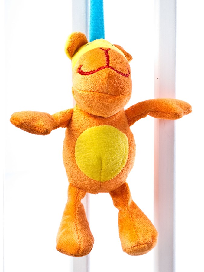 Hračka na postýlku spirála Sensillo Tygřík - žlutá