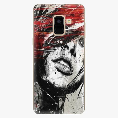 Plastový kryt iSaprio - Sketch Face - Samsung Galaxy A8 2018