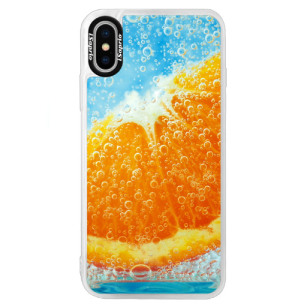 Neonové pouzdro Blue iSaprio - Orange Water - iPhone X