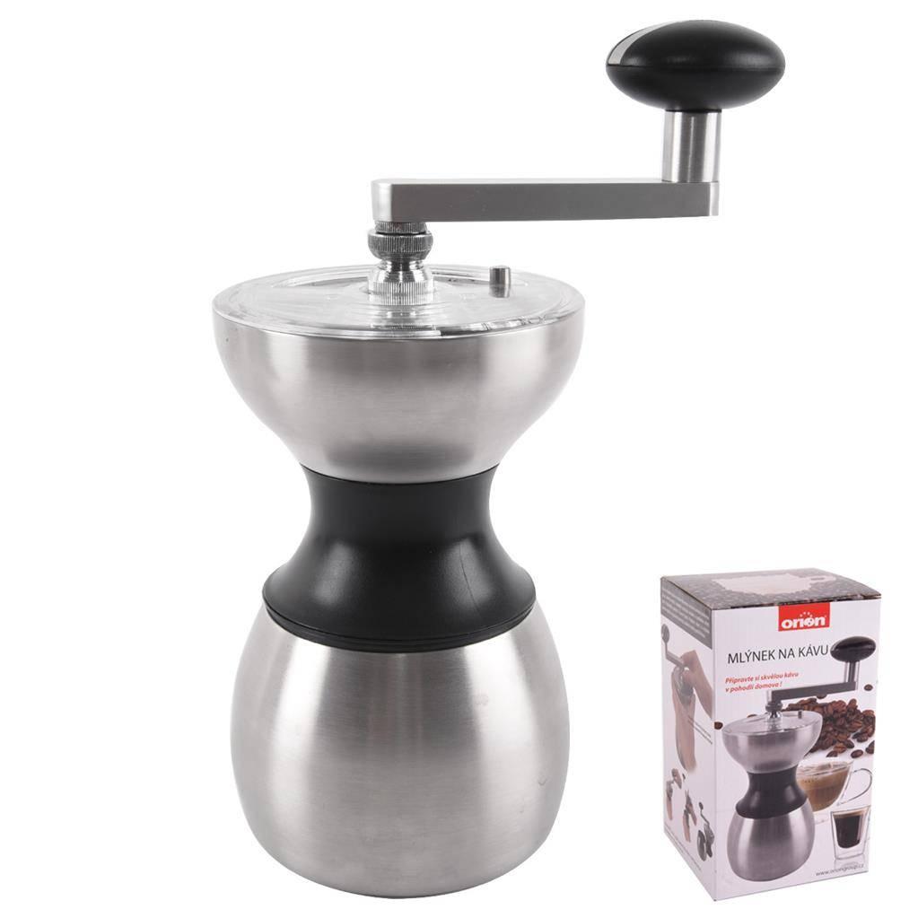 Ruční mlýnek na kávu nerez