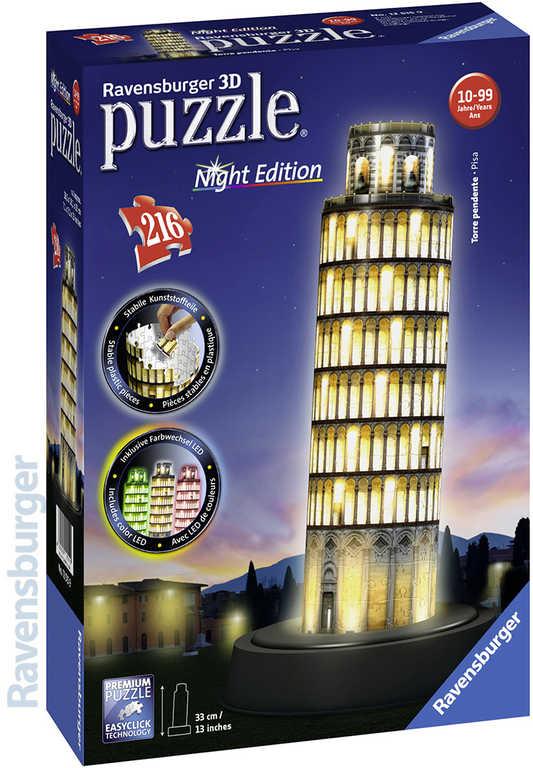 RAVENSBURGER Puzzle 3D věž v Pize na baterie Světlo noční edice 216 dílků