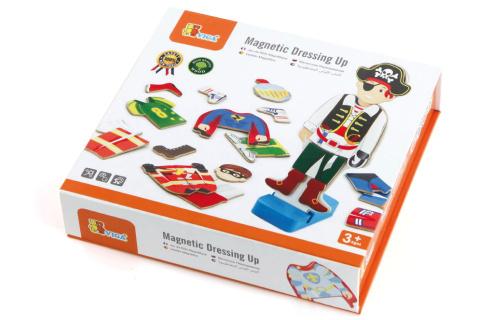 Dřevěné magnetické oblékání - kluk