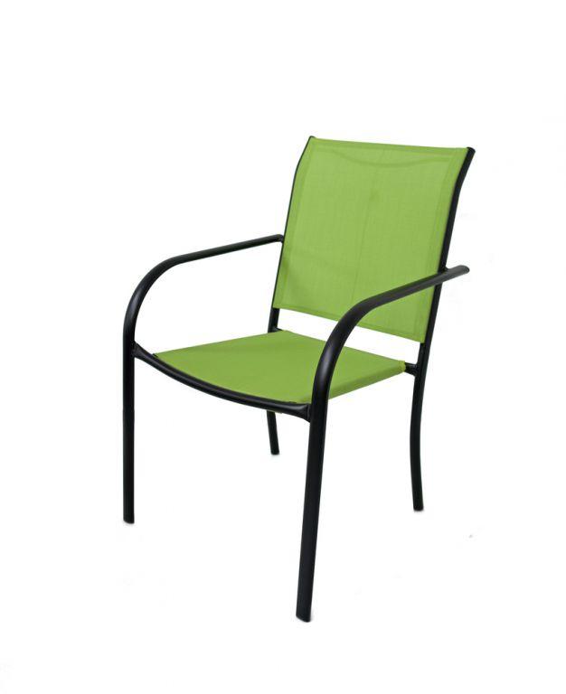 Zahradní kovové křeslo zelené