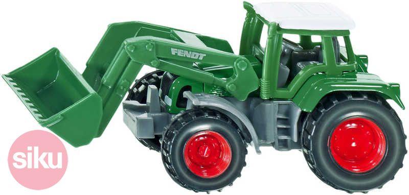 SIKU Traktor Fendt s čelním nakladačem Na pole KOV