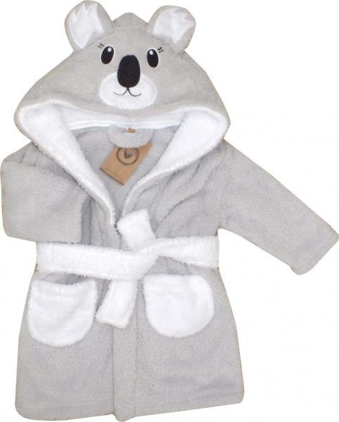 Z&Z Luxusní chlupáčkový župan s kapucí a páskem, Koala
