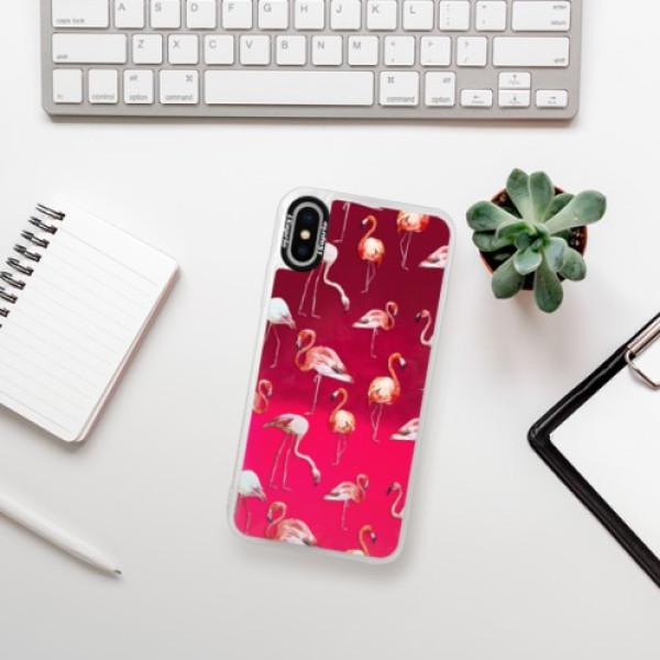 Neonové pouzdro Pink iSaprio - Flami Pattern 01 - iPhone XS