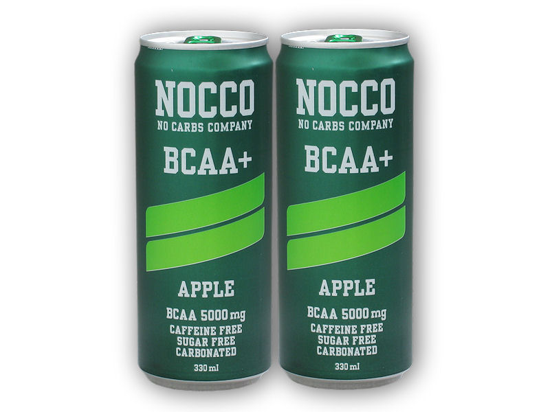 NOCCO BCAA 330ml + 1x ZDARMA-apple-apple