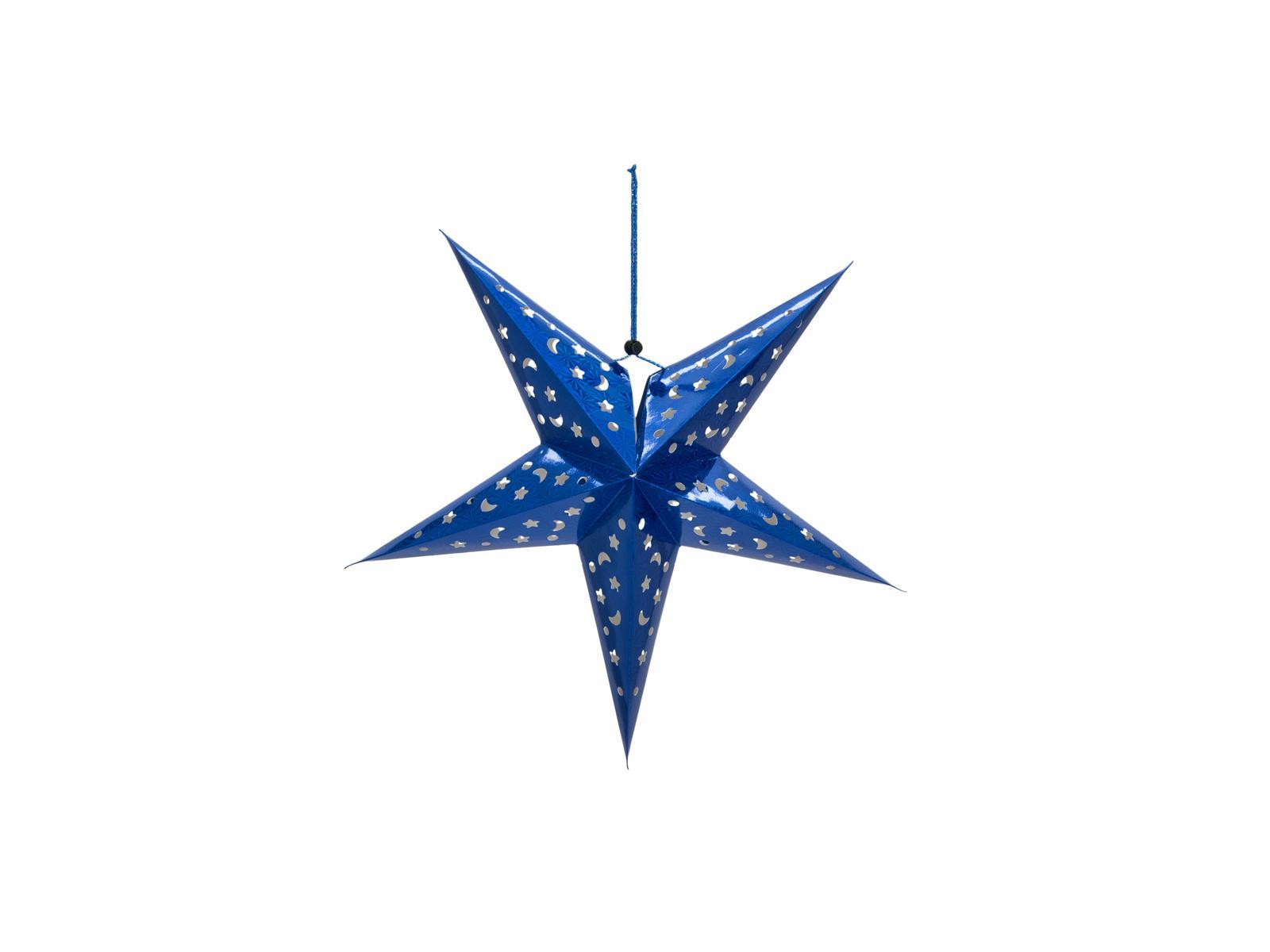 Star Lantern, papírová hvězda 40cm, modrá