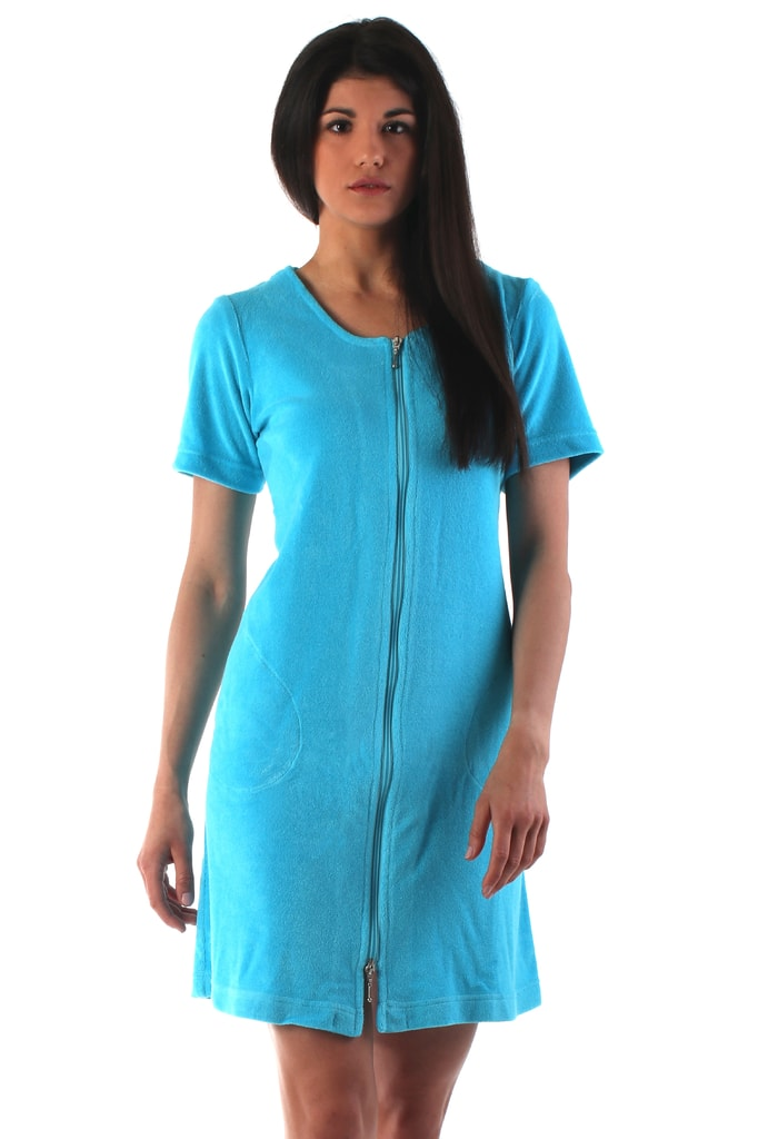 Plážové wellness šaty VESTIS Bari 51646330 s krátkým rukávem tyrkysové