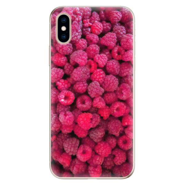 Odolné silikonové pouzdro iSaprio - Raspberry - iPhone XS