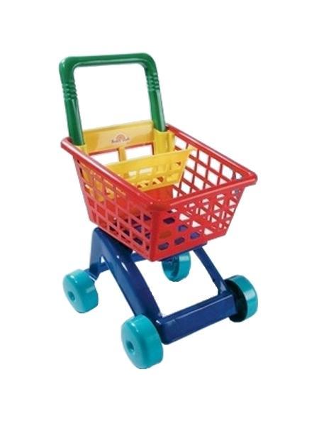 Dětský nákupní košík - červený - červená