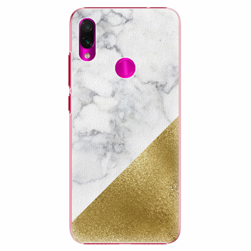 Plastový kryt iSaprio - Gold and WH Marble - Xiaomi Redmi Note 7