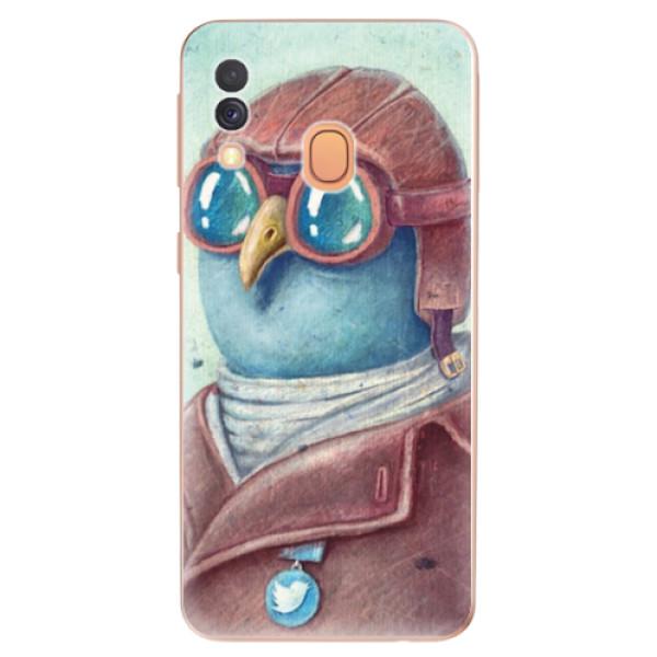 Odolné silikonové pouzdro iSaprio - Pilot twitter - Samsung Galaxy A40