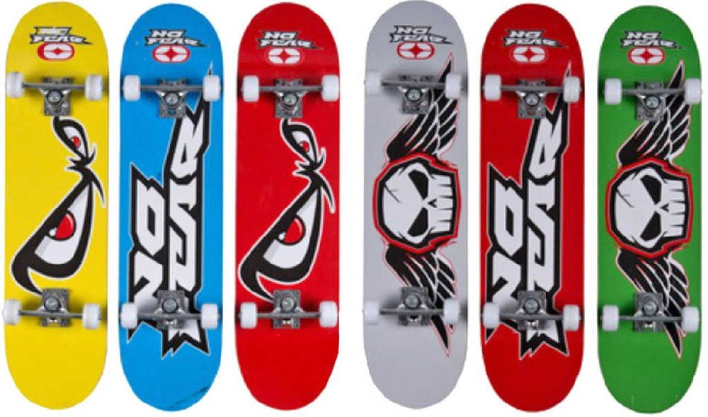 DŘEVO Skateboard 78 cm nosnost 50 kg s grafikou - 6 druhů
