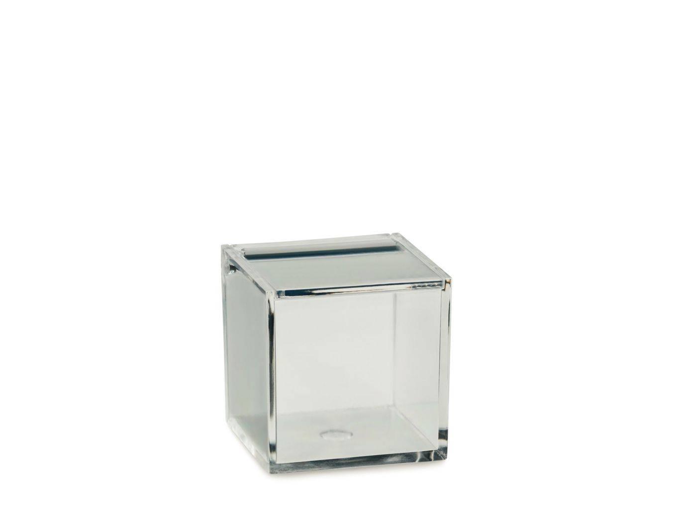 Kosmetická dóza SAFIRA plast, transparent, 6x6x6cm