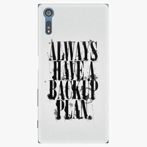Plastový kryt iSaprio - Backup Plan - Sony Xperia XZ