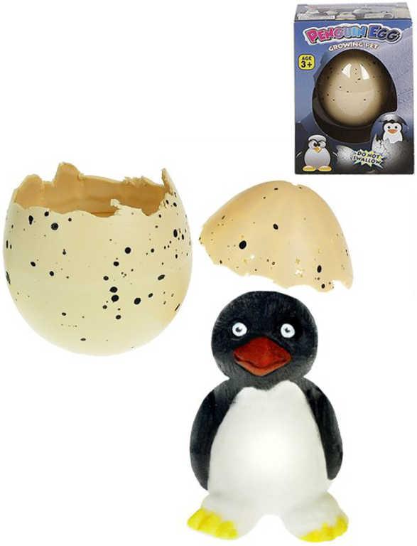 Tučňák líhnoucí se 6cm rostoucí zvířátko ve vajíčku