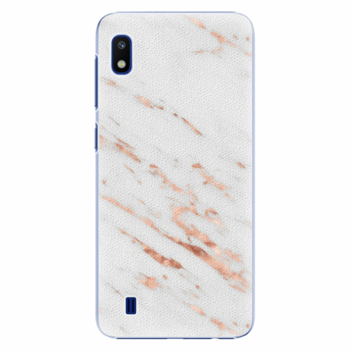 Plastový kryt iSaprio - Rose Gold Marble - Samsung Galaxy A10