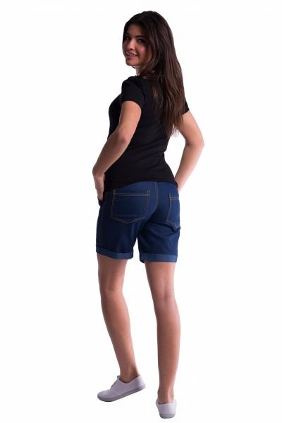 Be MaaMaa Těhotenské kraťasy s elastickým pásem - tm.