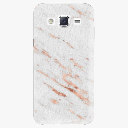 Plastový kryt iSaprio - Rose Gold Marble - Samsung Galaxy Core Prime