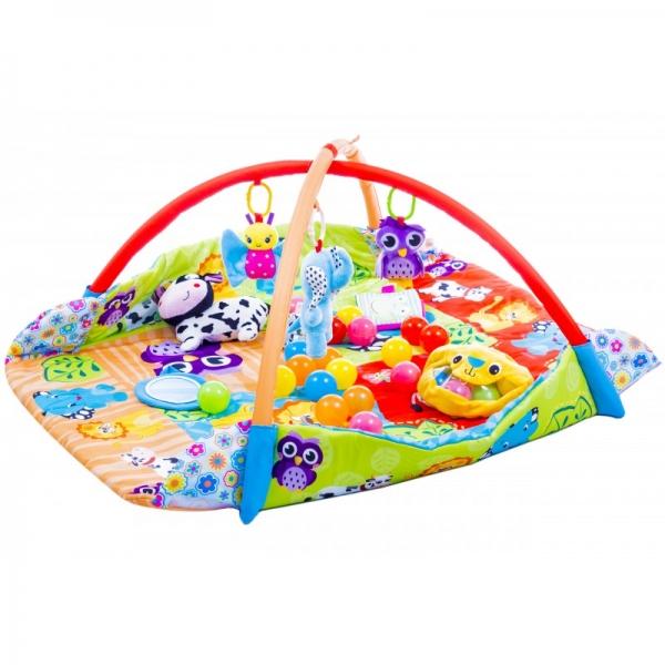 Vzdělávací hrací deka 3v1 ,110x110cm - Animals