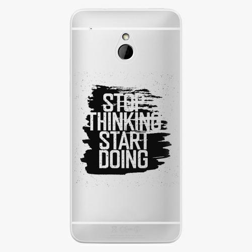 Plastový kryt iSaprio - Start Doing - black - HTC One Mini