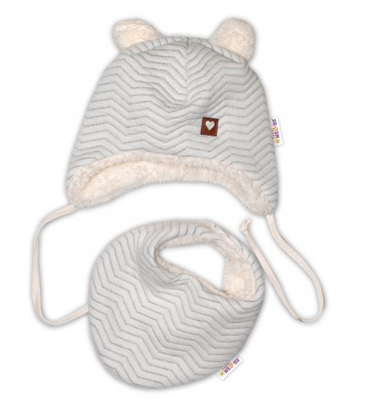 baby-nellys-zimni-koziskova-cepice-s-satkem-love-sedy-vzor-vel-42-44-cm-42-44-cepicky-obvod