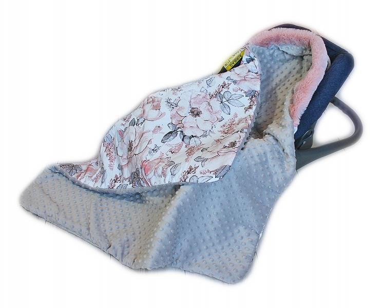 baby-nellys-bavlnena-oboustranna-decka-3v1-s-minky-a-kozesinkou-90x90-cm-roses