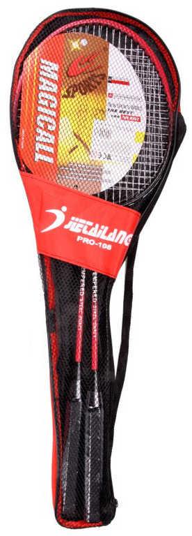 Badminton set 2 pálky v červeném vaku