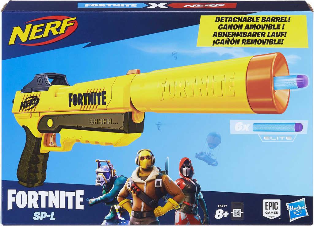 HASBRO NERF Fortnite Sneaky Springer SP-L Blaster set se 6 náboji