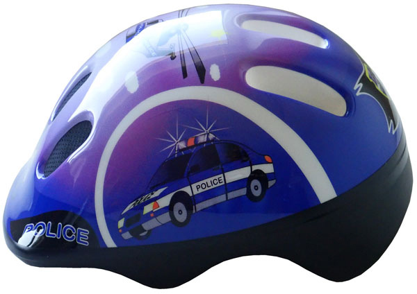 BROTHER Cyklo helma cyklistická dětská vel.S policie na kolo CSH062