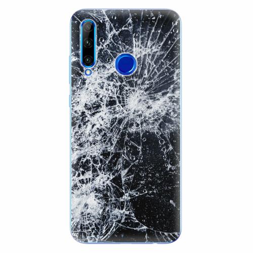 Silikonové pouzdro iSaprio - Cracked - Huawei Honor 20 Lite