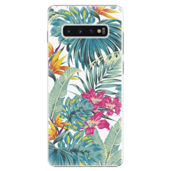 Plastové pouzdro iSaprio - Tropical White 03 - Samsung Galaxy S10+