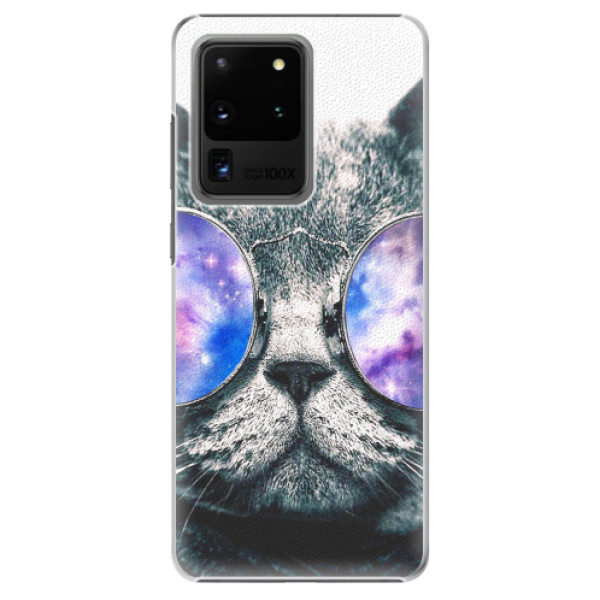 Plastové pouzdro iSaprio - Galaxy Cat - Samsung Galaxy S20 Ultra