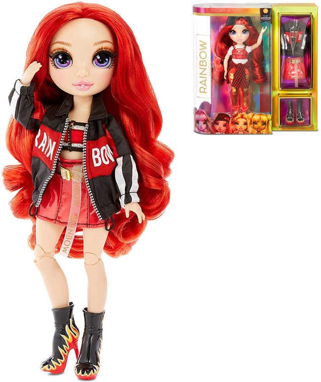 Rainbow High Fashion Doll modní panenka Rubby Anderson set s oblečky a doplňky