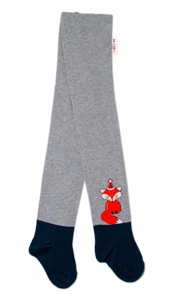 Baby Nellys Dětské punčocháče bavlněné, Fox, šedé-granát
