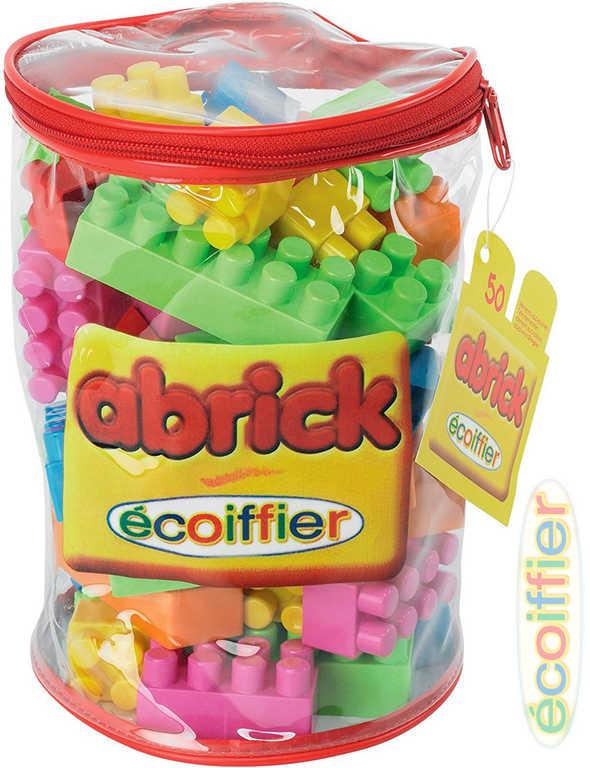 ECOIFFIER Baby kostky plastové Abrick set 50ks v tašce na zip STAVEBNICE