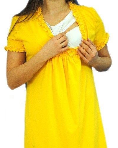 Be MaaMaa Těhotenská, kojící noční košile s volánkem