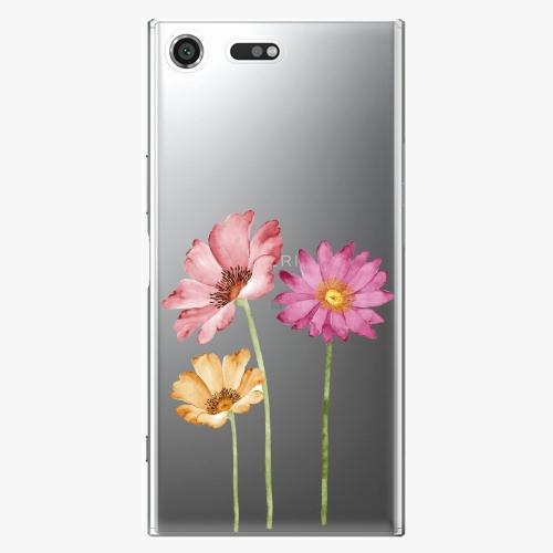 Plastový kryt iSaprio - Three Flowers - Sony Xperia XZ Premium