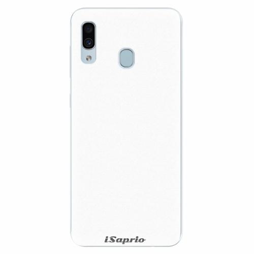 Silikonové pouzdro iSaprio - 4Pure - bílý - Samsung Galaxy A30