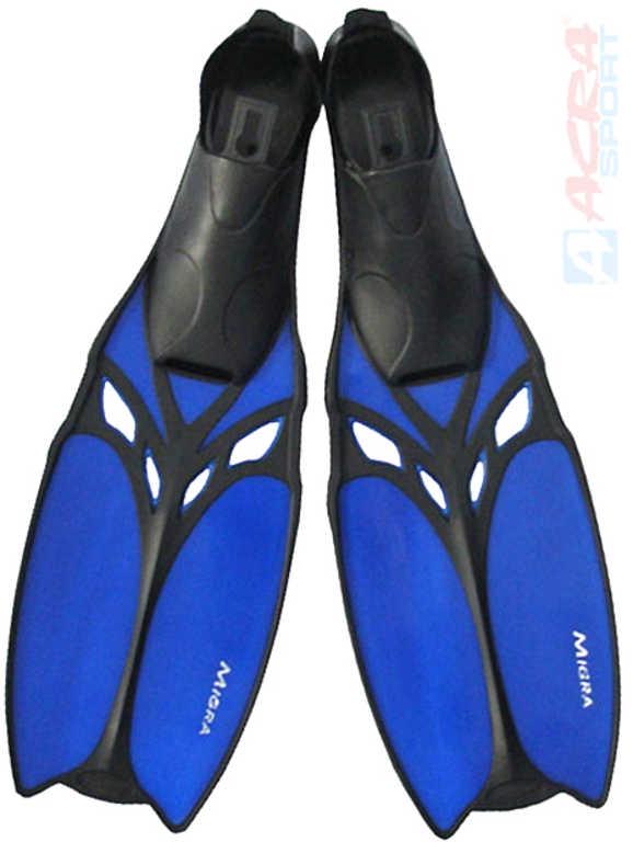 ACRA Ploutve potápěčské do vody Migra vel. EU 39-40 gumová botička různé barvy