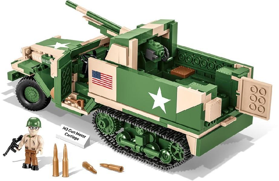 Stavebnice II WW M3 Gun Motor Carriage, 576 k, 1 f