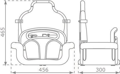 Marimex Play Závěsná houpačka 3v1, 30 x 45,6 x 46,5 cm