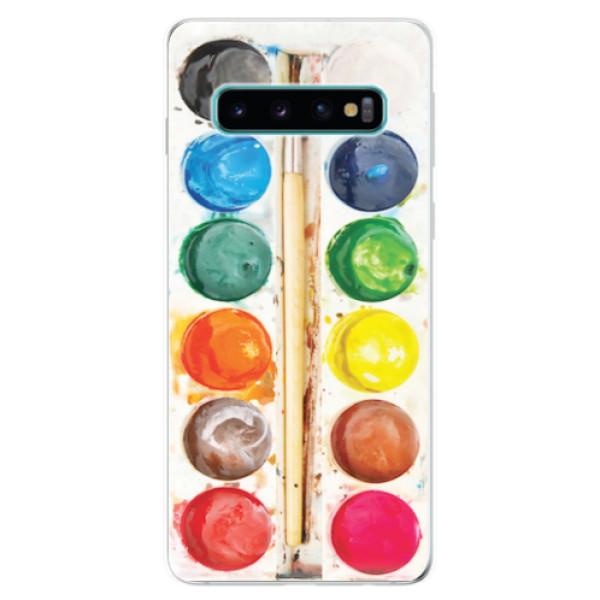 Odolné silikonové pouzdro iSaprio - Watercolors - Samsung Galaxy S10