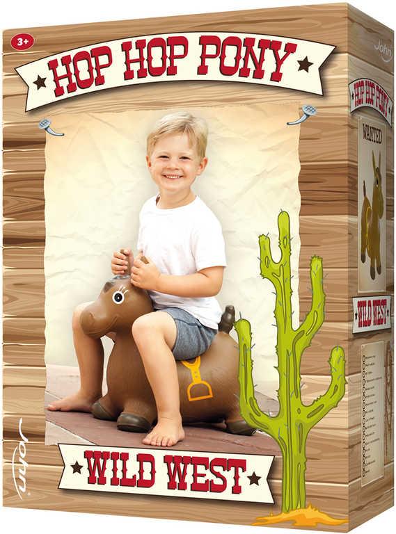 JOHN Hopsadlo koník osedlaný dětské skákadlo 52x60cm v krabici 2 druhy